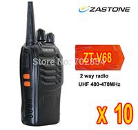 2 WAY RADIO CE passed 16channel 5W 400-470MHZ strong flashlight 1500mAH battery ZASTONE ZT-V68 walkie talkie 10pcs/lot