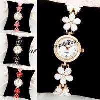 60pcs/lot JW-1189 flower bracelet lady metal watch women rhinestone quartz watches fashion bracelets & bangles dress wristwatch