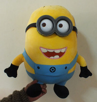 Minion Despicable me 2 3D eyes 45cm yellow doll  plush toys gift for baby free shipping