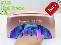UV Nail Lamp Led Nail Lamp CCFL+LED 60W High Power UV NailLAmpnail Dryer 30s Quick-dry Uniwersal Voltage Free Shipping