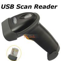 Black High Quality Long Laser USB Port CCD Handheld Barcode Scanner Bar Code Reader for POS