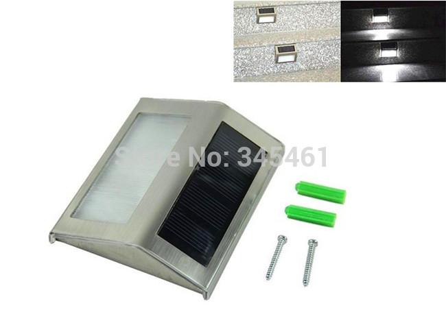 Waterproof LED Solar Light Lamps 2 Leds