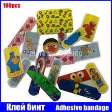 FS/ Adhesive bandage Novelty Cartoon Pattern Waterproof Adhesive Bandage Band-Aid Sticker first aid kit  plaster kids woundplast(China (Mainland))