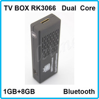 2014!!NEW!!! 2 PCS TV BOX  RK3066 1.6G WIFI Bluetooth  1GB 8GB Dual  core MINI HDMI Expand Micro SD Google Android Free Shipping