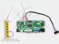 "Free shipping M.NT68676.2A VGA+DVI+HDMI LCD Controller Board Kit for 15.6"" B156XW02 1366x768 LCD Panel"
