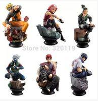 Naruto toy 6piece/lot  9cm brinquedos Uzumaki Kakashi Sasuke Gaara Figure Figurine free shipping
