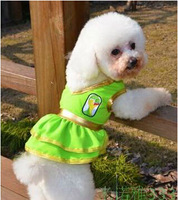 Free Shipping!  Cheerleading Brazil World Cup Campaign Pet Dogs Summer Clothes Dress For Poodle Bichon Chihuahua