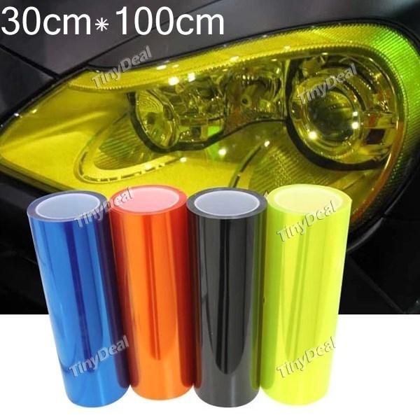 12 colors 30cm*100cm Waterproof Car Sticker Light HeadLight Taillight Tint Vinyl Film Sheet Car Decoration Decal Car Accessories(China (Mainland))