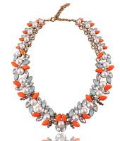 New spring Z  fashion chain crystal necklace & pendant bib bubble design pendant choker chunky statement necklace wholesale