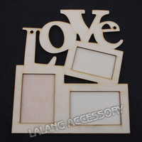 1PCS Free Shipping LOVE Wood Photo Frame White Base Frame DIY Picture Frame EJ870314