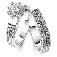 JA-5018A,Fashion edding rings 18K gold rings couple wedding rings for men and women joyas de plata