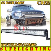 FREE DHL SHIP 42 INCH 240W CREE LED LIGHT BAR OFFROAD TRUCK 4X4 LED DRIVING LIGHT SUV ATV WORK LIGHT BAR CAR HEADLIGHT 180W/288W
