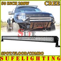 FREE DHL SHIP 50 INCH 288W CREE LED LIGHT BAR OFFROAD TRUCK 4X4 LED DRIVING LIGHT SUV ATV WORK LIGHT BAR CAR HEADLIGHT 240W/300W