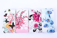 Color Butterflies PU LEATHER Cell Phones CASE FOR SAMSUNG GALAXY S II S2 i9100 + FREE 1 STYLUS