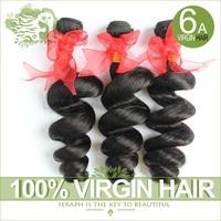 Rosa hair products Brazilian virgin hair loose wave Human hair extension 3 or 4pcs lot wholesale natural black hair weaves wavy