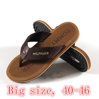 Free Shipping 2014 Summer popular Men Flat Sandals Bakham Leisure Flip Flops,EVA Beach Slipper Shoes For Men Big Size 40-45