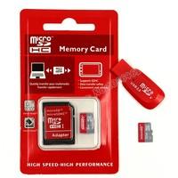 Free Shipping microsd 8GB 16GB 32GB  Micro SD Card 64gb class 10 + Free Adapter + Gift Card Reader + memory cards