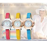 Free Shipping 2014 Newest Fashion Women Dress Quartz Watches Brand Kimio Genuine Leather Strap Lady Luxury Wrist watches KW515S