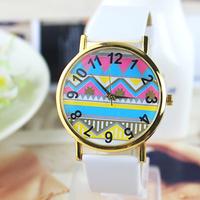 New Arrive Fashion Women Leather Strap classics Watch Multicolore dial wrist quartz watch dress watch