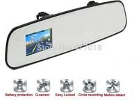 Full HD 1080P Super Slim Design 140degree View angle Rearview Mirror 5.0MP Car DVR Recorder G-Sensor Motion Detection Lock Dvrs