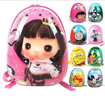 Дети мультфильм яичной скорлупы школьные сумки детей сумки студенты рюкзак для детей ...