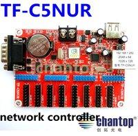 TF-C5NUR LED sign control card Network RJ45 LAN+USB+RS232 port 2048*64 pixels support Single&Tri-Color LED display controller