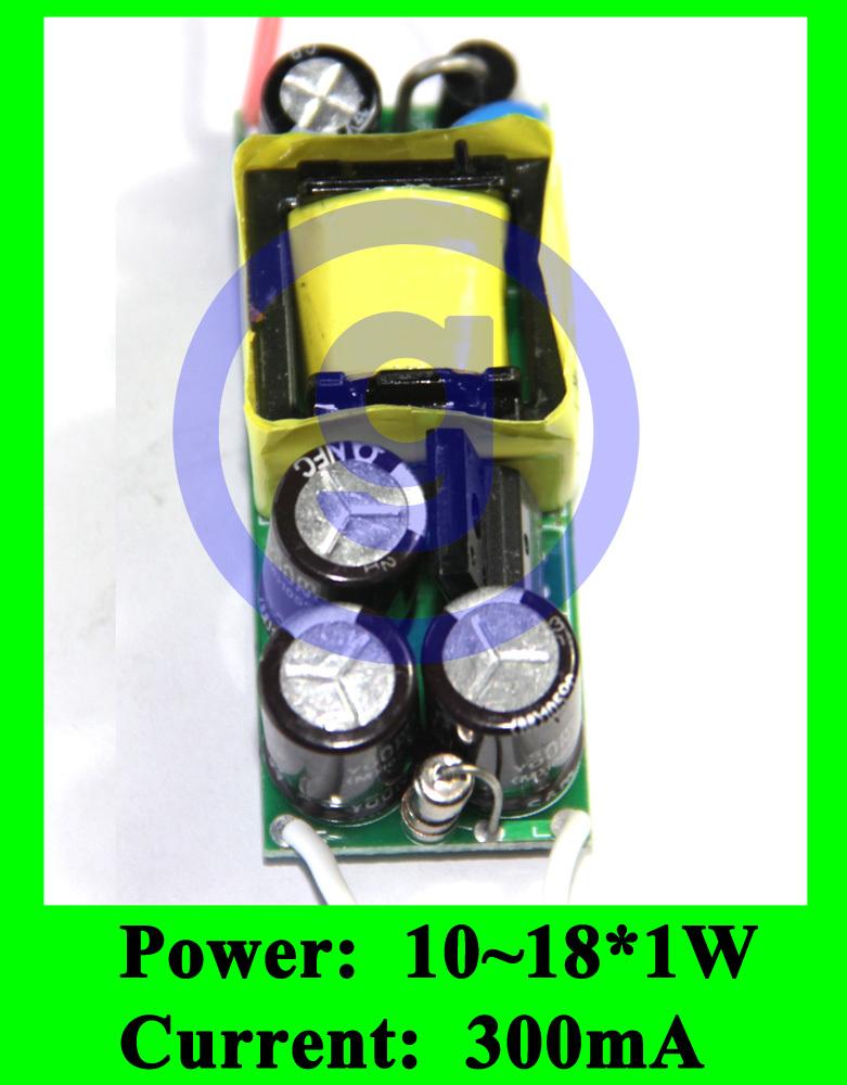 Constant Current LED Driver 18W 300ma 18x1W 16w 16x1w 15w 15x1w LED Power supply AC 85V 240V 265V DC 30V 36V 48V(China (Mainland))