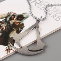 1pcs Free Shipping Assassins Creed Ezio Cosplay Titanium Steel Pendant Necklace Fashion Necklace for Men Women ANPD1264
