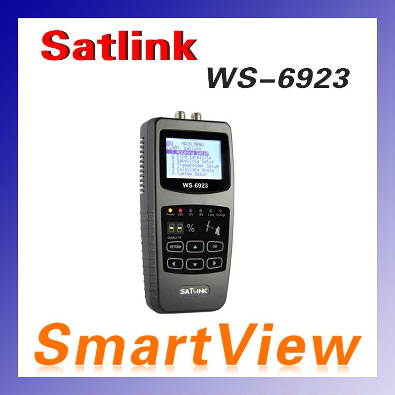 5pcs Original Satlink WS-6923 2.1 inch LCD DVB-S FTA C&KU Band Digital Satellite finder satellite meter ws 6923 free shipping(China (Mainland))
