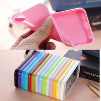 Colorful Candy Soft TPU Silicone Rubber Back Case Cover Shell Skin For Apple iPhone 5 5G 5S Wholesale Free Shipping 10pcs/lot
