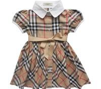 2014 new summer fashion brand design baby girl clothes plaid short-sleeved dress girls dress beautiful princess dress