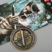 1pcs  Superhero X-men Wolverine Stainless Steel Keychain Metal Figure Toy Pendant Fashion Key chain for Men Women ANPD1293