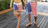 Swimwear Men 2014 Fashion Korean Style USA Flag Pattern Swimming Shorts Men's Beach Shorts