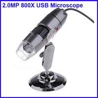 2MP 8-LED USB Digital Microscope endoscope Magnifier 20X~800X
