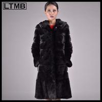 LTMB 100cm length women mink fur coat Real sable fur coat for ladies and girls from China