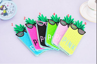 2014 Hot Fashion Victoria Pink 3D Soft Fruit Pineapple Secret Case For iphone 5 case silicone Food For iphone 5 5s Cover ZH005