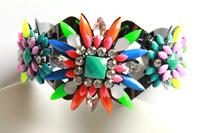 Crystal Rhinestone Bracelet charm 2014 Alloy bracelets & bangles statement Jewelry Vintage bracelets For women 2014