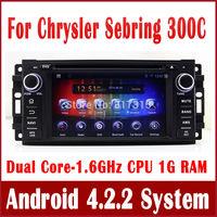 Android 4.2 Car DVD Player for Chrysler Sebring 300C w/ GPS Navigation Radio BT TV CD USB AUX iPod MP3 DVR 3G WIFI Stereo Video