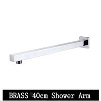 Free shipping Brass chrome 400mm shower arm shower head arm best