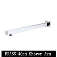 Free shipping Brass chrome 400mm shower arm shower head arm best