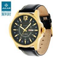 Julius Original Brand Quartz Mens Wrist Watch Man Fashion Waterproof Sport Watches leather Strap Clock Authentic Free shipping