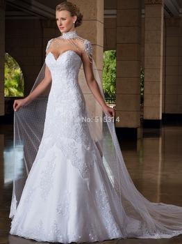 На заказ 2015 новинка А линии милая кружева сексуальная женщина свадебное платье vestido де noivas свадебные платья бесплатная доставка AF25