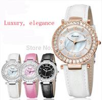 2014 New Women Dress Casual Quartz Watch Fashion Genuine Leather Strap Wrist watch Bracelet Kimio kw501M Drop Ship 50pcs/lot DHL