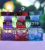 free shipping 10pcs/pack high-grade colored glass cubic bottle perfume bottle refillable Bottles perfume spray bottle sub bottle