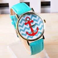 2014 new Geneva watch navy anchor wristwatch for men women fashoin casual dress watches with 10 colors JD332