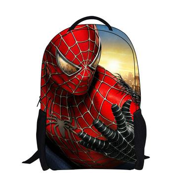 2014 cartoon backpack with Молния Модный Стиль boy cool spiderman bag school for ...