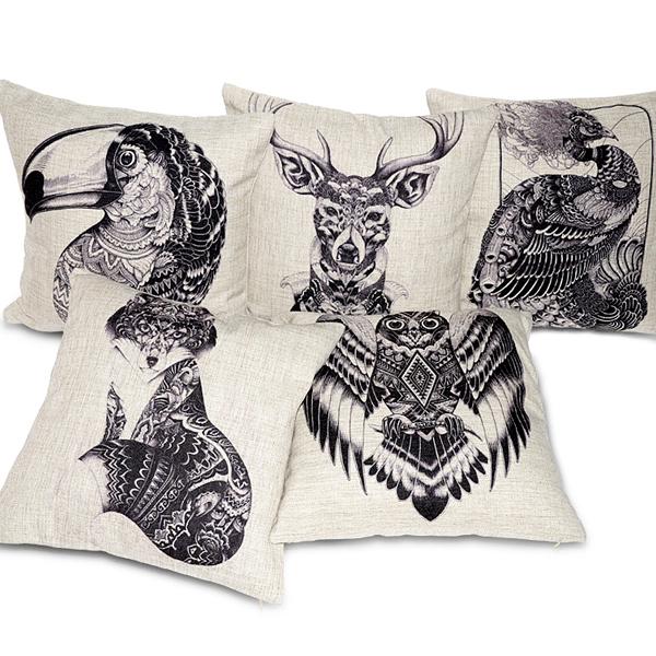 Creativo totem federa mano- elaborato casa in stile in cotone cuscini cuscino, cuscino decorativo, tiro cuscino, divano cuscino