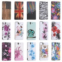 Cute Cool Polka Dots Owl Flag Sexy S Line Butterfly Flowers TPU Protector Phone Case for Sony Xperia Z Bag Cover Skin L36h