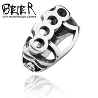 Size 7-13 High Quanlity New 2015 Men's repair tool Ring, 316L Stainless Steel cool fist skull Rings fashion Jewelry BR8-027