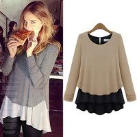 2014 autumn new fashion chiffon women blouses chifon Blusas De Manga Longa feminino femininas long sleeves female shirts